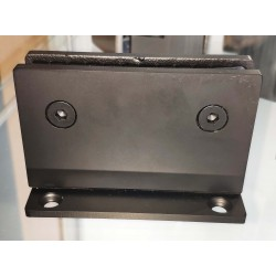 Matte Black-HEAVY DUTY  Square 90° fixed bathroom glass clamp-Hinge style