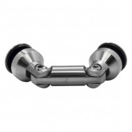 Adjustable angle glass holder (shower series) for 8-12mm glass - Brushed finish