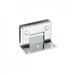 Square beveled hinge with offset base plate . Brass material-Chrome finish.