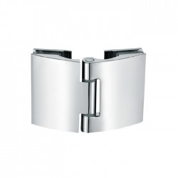 180° Non spring cambered style hinge for  glass to  glass door. Chrome.