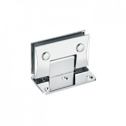 SQUARE CAMBERED HINGE with offset base plate . Brass material-Chrome finish.