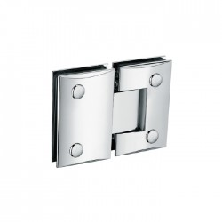 SQUARE CAMBERED 180°  HINGE FOR GLASS TO GLASS DOOR. BRASS -CHROME.
