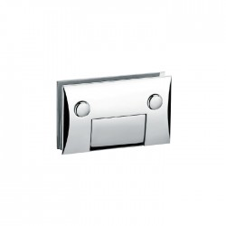 CHROME FINISHED -HEAVY DUTY  SQUARE CAMBERED 90° fixed bathroom glass clamp-Hinge style