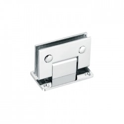 90° WALL-GLASS HINGE WITH FULL BACKPLATE - BRUSHED FINISH-BRASS MATERIAL