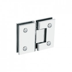 SQUARE STYLE 180°  HINGE FOR  GLASS TO GLASS DOOR. BRASS MATERIAL-BRUSHED STAINLESS FINISH.