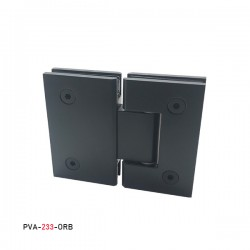 SQUARE STYLE 180°  HINGE FOR  GLASS TO GLASS DOOR. BRASS MATERIAL-BLACK MATTE FINISH.