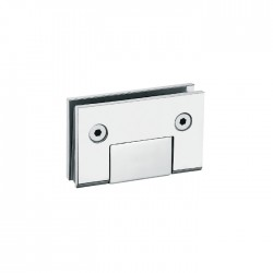 Matte Black-HEAVY DUTY  Square 90° fixed bathroom glass clamp-Hinge style-No Back plate