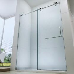 Frameless Glass Single Sliding Door Shower set-Chrome finish