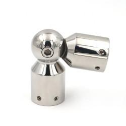 Adjustable elbow for corner sliding shower glass door rail pipe-Chrome finish