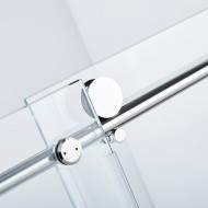 Sliding glass door rail pipe 1830mm long (4ft) and 25mm (1 inch)  diameter- Chrome finish.